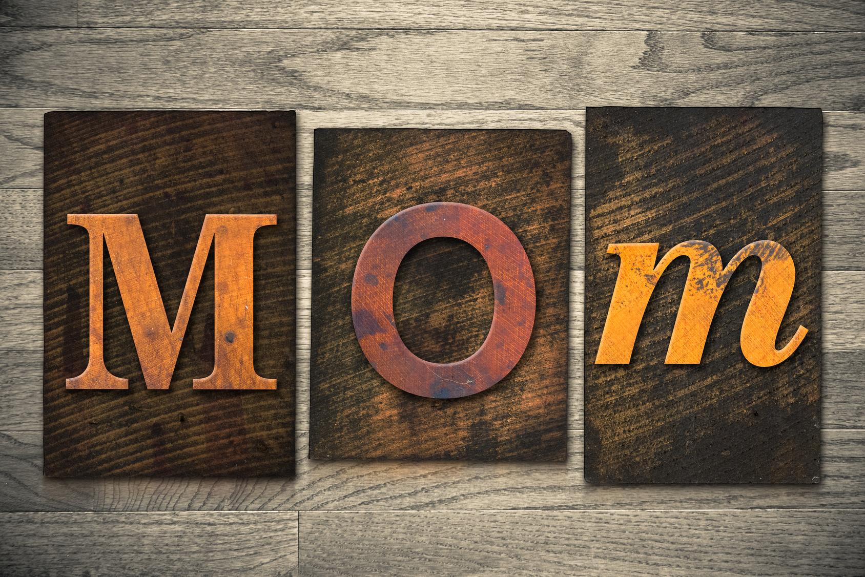Mom Concept Wooden Letterpress Type