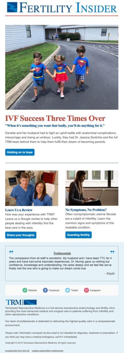 Fertility E-Newsletter | TRM | Tennessee