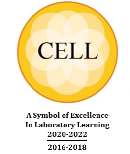 Logo of Center of Excellence in Laboratory Learning (Cell) awarded to our IVF laboratory | Tennessee Reproductive Medicine | Chattanooga