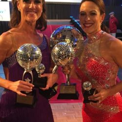 Dr. Scotchie being presented the Dare to Dance competition award | Tennessee Reproductive Medicine | Chattanooga
